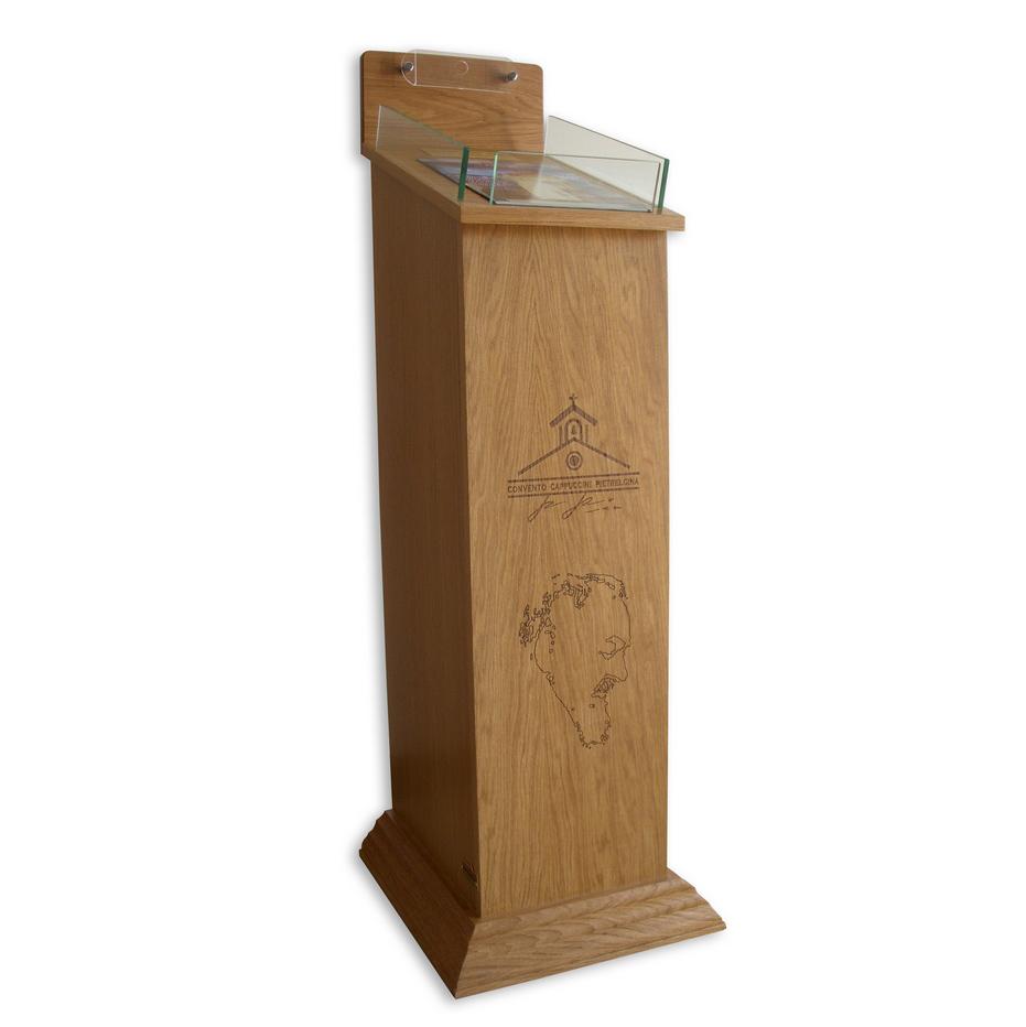 Porta offerte con cassaforte banchi chiesa arredi sacri for Arredi sacri milano